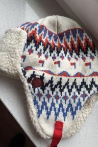 Humor czapka uszatka zimowa uszanka wzory