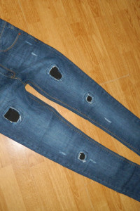 super skinny spodnie jeansowe roz 32...