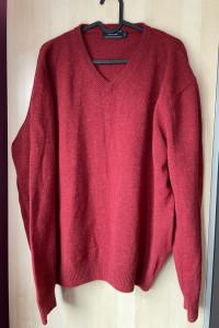 Peter Fitch czerwony męski wełniany sweter