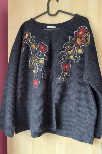 Zara nowy zdobiony sweter