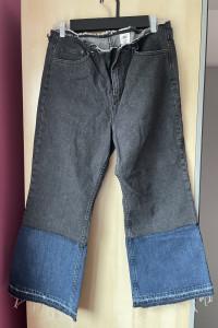 HM nowe jeansy flare dwukolorowe