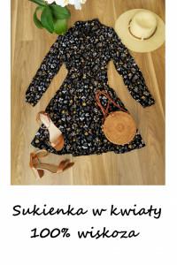 Sukienka w kwiaty New Look wiskoza M L...