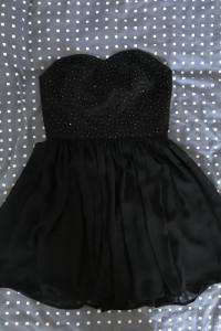 Sukienka czarna bez ramiączek roz M...
