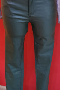 Spodnie woskowane eko skórka...