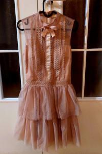 Sukienka krótka koronka tiul S NOWA...