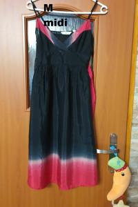 Czarno czerwona sukienka letnia...