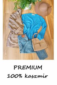 Niebieski kaszmirowy sweterek premium kaszmir vintage...