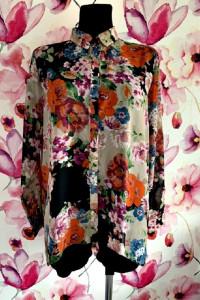 atmosphere koszula mgiełka asymetryczna kwiaty floral hit 38