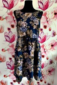 pieces sukienka modny wzór kwiaty floral jak nowa hit 40...