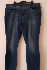 Granatowe elastyczne jeansy rurki skinny 46...