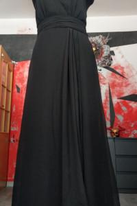 Pięna szyfonowa suknia na szyję...