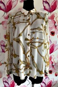 select koszula elegancka modny wzór łańcuszki frędzle hit 42