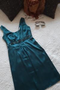 sukienka satynowa XS S