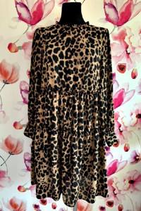 gallery sukienka midi modny wzór panterka jak nowa hit 40 42
