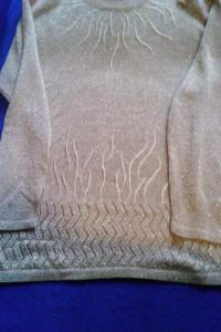 bluzka sweter damski złoty beż...