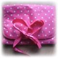 Kosmetyczka różowa w kropeczki:)