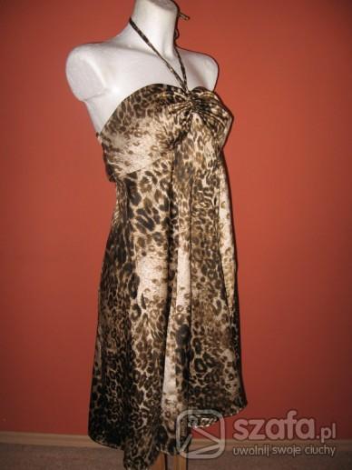 Suknie i sukienki Sukienka tunika panterka L - Nowa - tylko sprzedaż