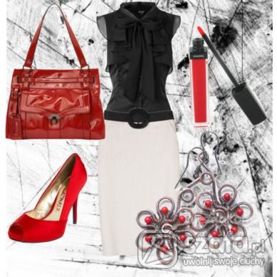 Eleganckie Czerwono czarne