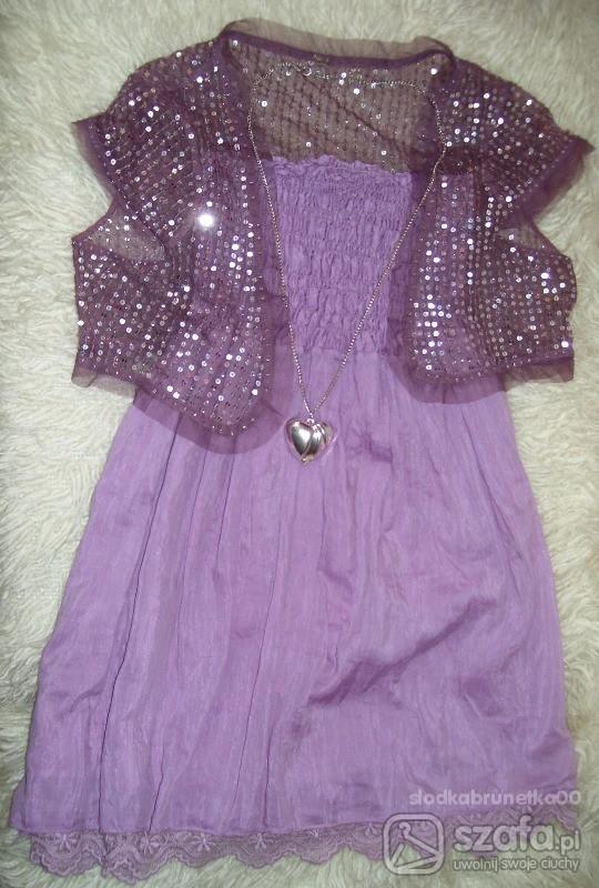 Tuniki piękna fioletowa baby doll