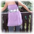 piękna fioletowa baby doll