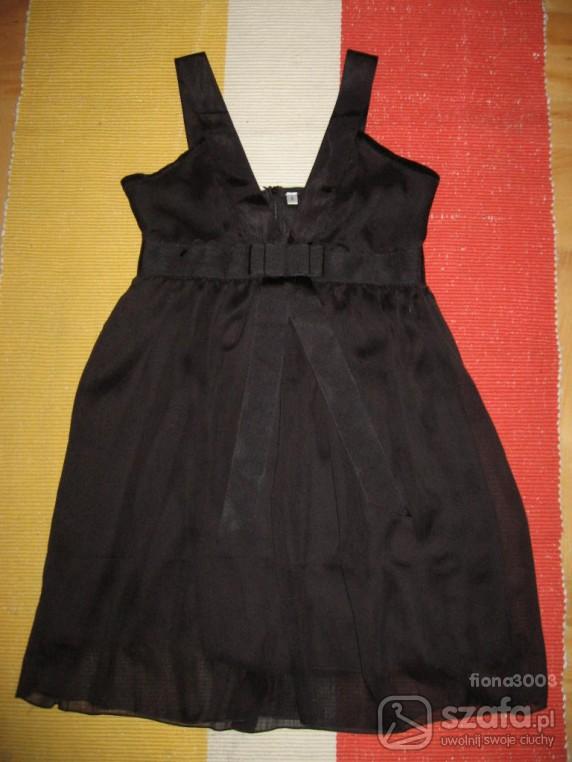 Na specjalne okazje Czarna sukienka fason Baby Doll