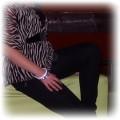 czarne panterkowe jeansy leginsy