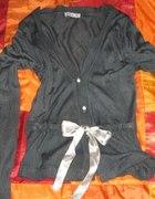 CiemnoSzary sweterek VILA z satynową tasiemką XS