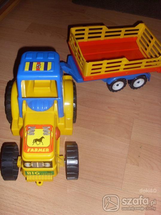 Zabawki Traktor z przyczepką