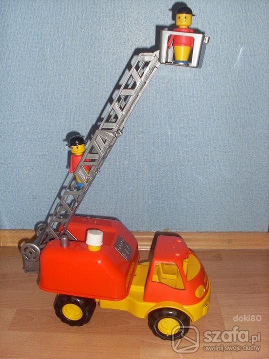 Zabawki Duży wóz strażacki z wysuwaną drabiną