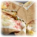 Chusta boho XXL z haftem kwiaty