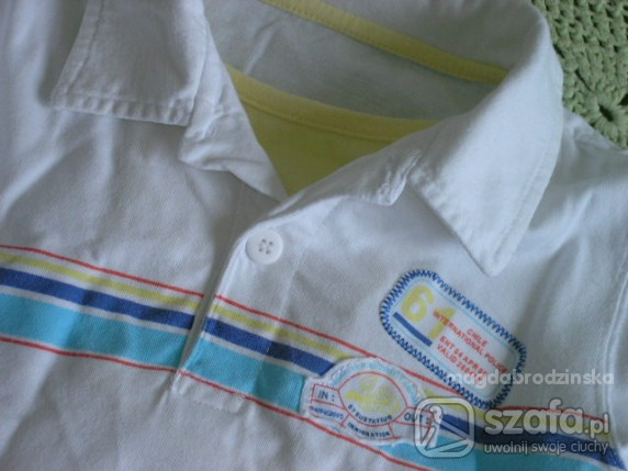 Koszulki, podkoszulki białożółte polo