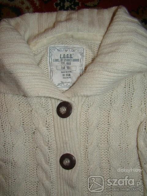 Swetry H and M biały sweterek cudo