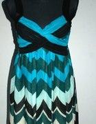 Zwiewna niebieska sukienka mini