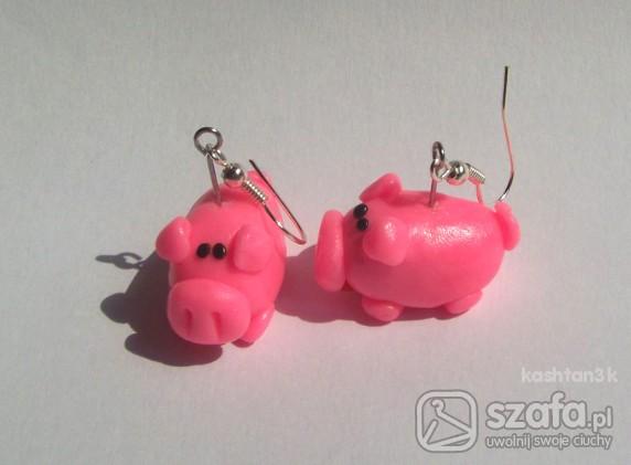 kolczyki różoweświnki