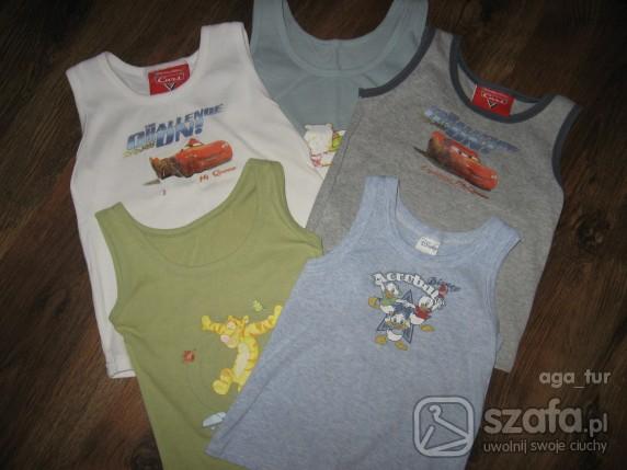 Koszulki, podkoszulki pięć roznych podkoszulek na ramkach