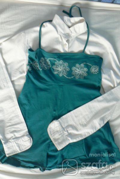 Imprezowe tunika wiązana z haftem
