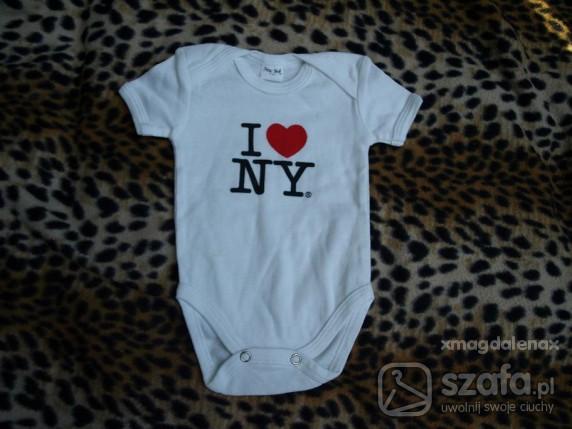 Koszulki, podkoszulki ODLOTOWE BODY I LOVE NY