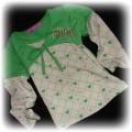 rybaczki i bluzeczka zielona na 86cm i 3 miesiące