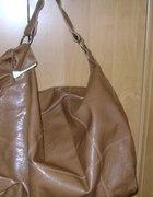Karmelowa duża torba