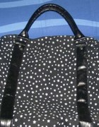 Duża torba XXL Atmosphere w gwiazdki czarno biała