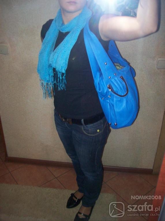 Chusty i apaszki niebieska panterka
