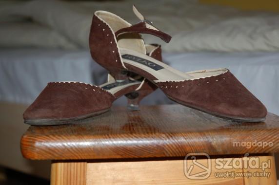 Czółenka Brazowe buty Rylko