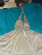 Srebrna sukienka rozmiar L