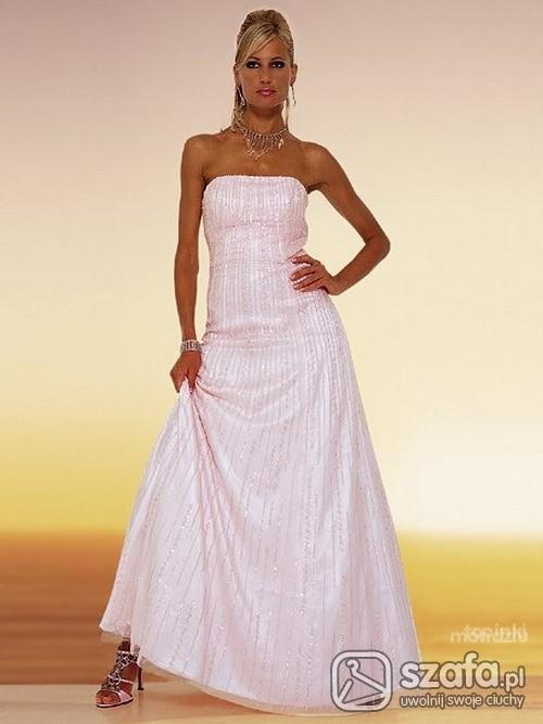 Suknie i sukienki cudowna różowa suknia apart