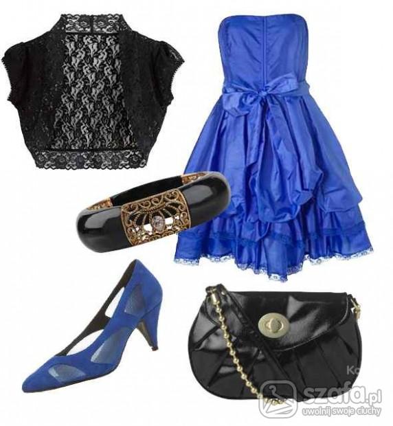 Eleganckie Gustowna niebieska
