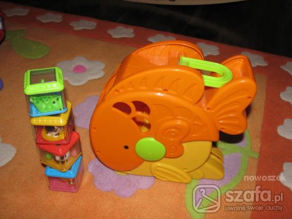 Zabawki rybka z klockami sensorycznymi