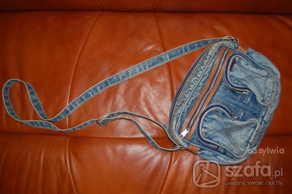 jeansowa torebka przez ramię