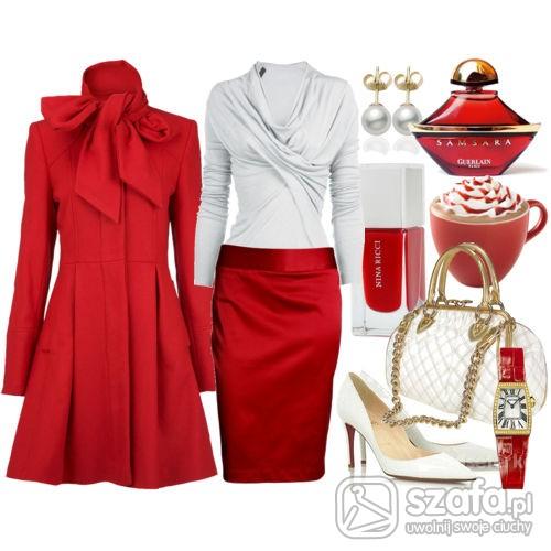 Eleganckie rozgrzewajaca czerwien