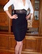 ołówkowa sukieneczka z ćwiekami