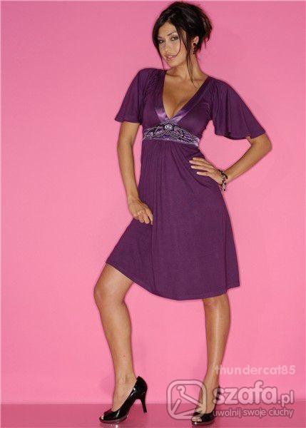 Suknie i sukienki Fioletowa z bon prix
